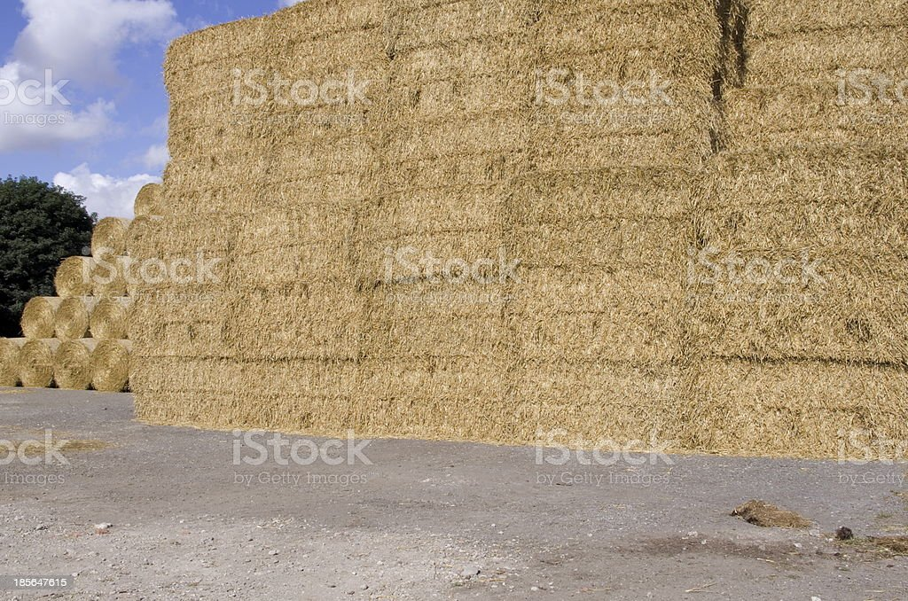 Straw Stack royalty-free stock photo