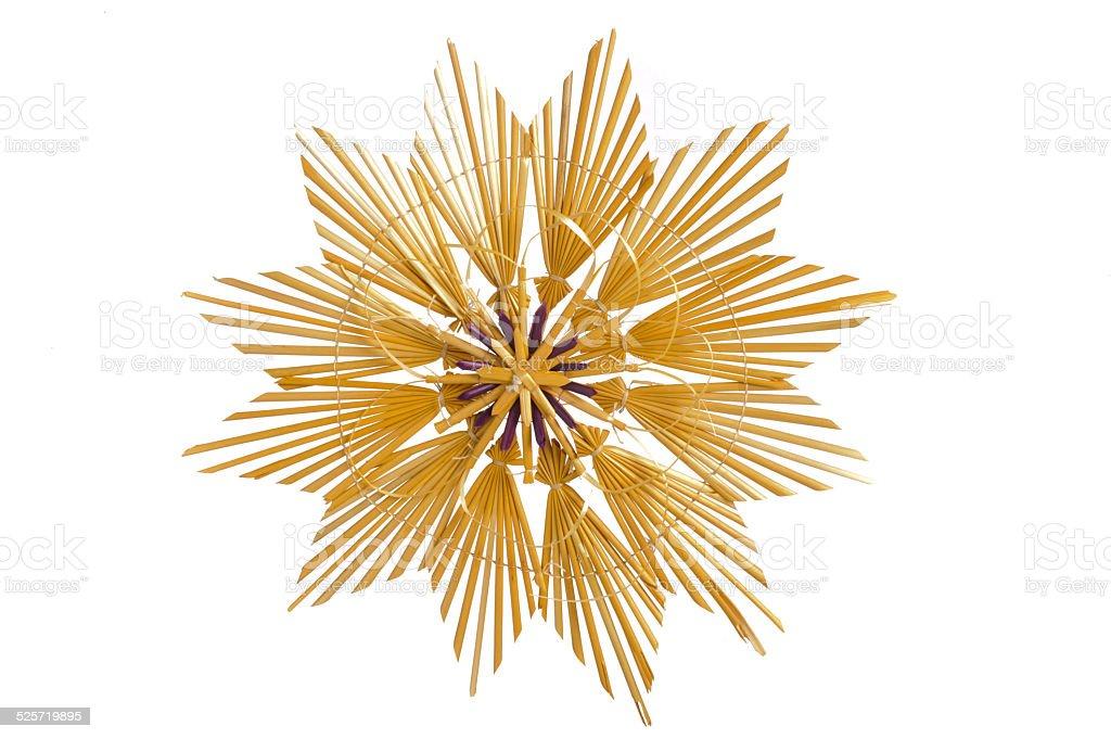 Straw star as Christmas decoration stock photo