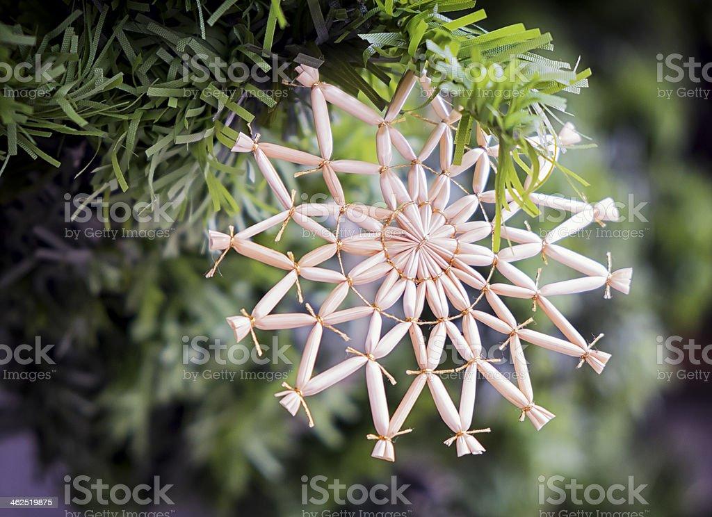 straw star stock photo