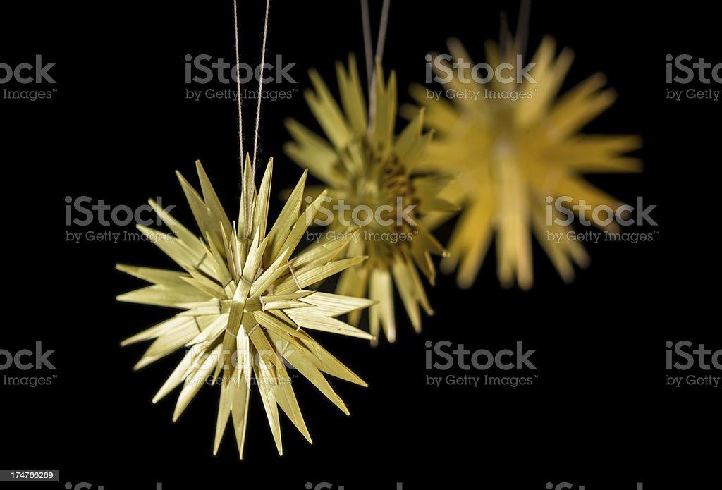 Straw Stars - Christmas stock photo