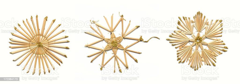 straw stars isolated stock photo