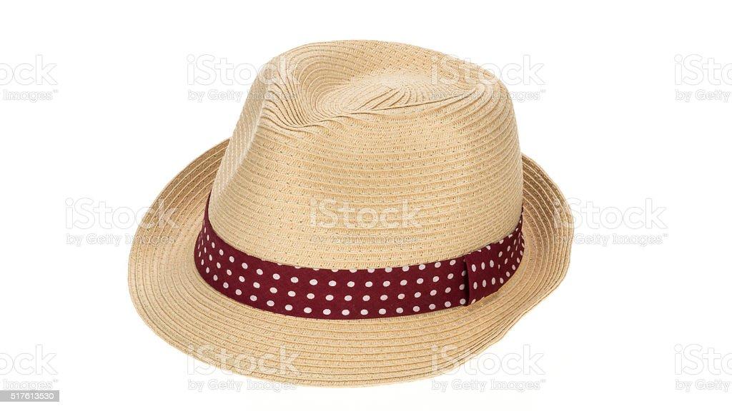 Straw sun hat stock photo