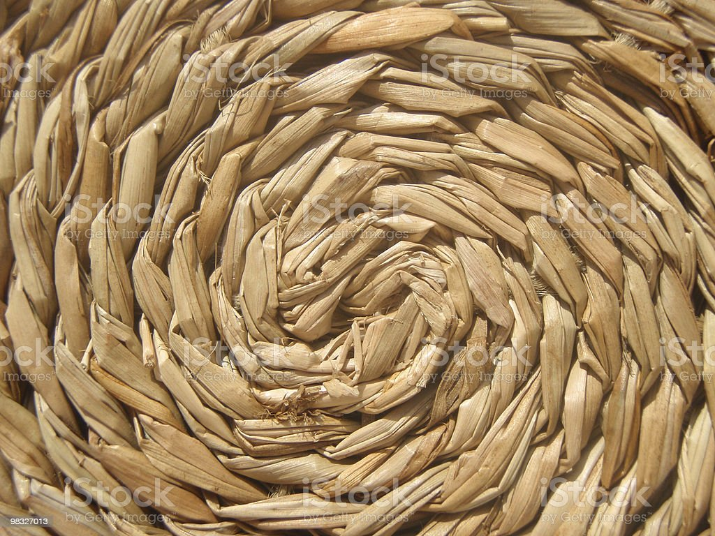 straw swirl royalty-free stock photo