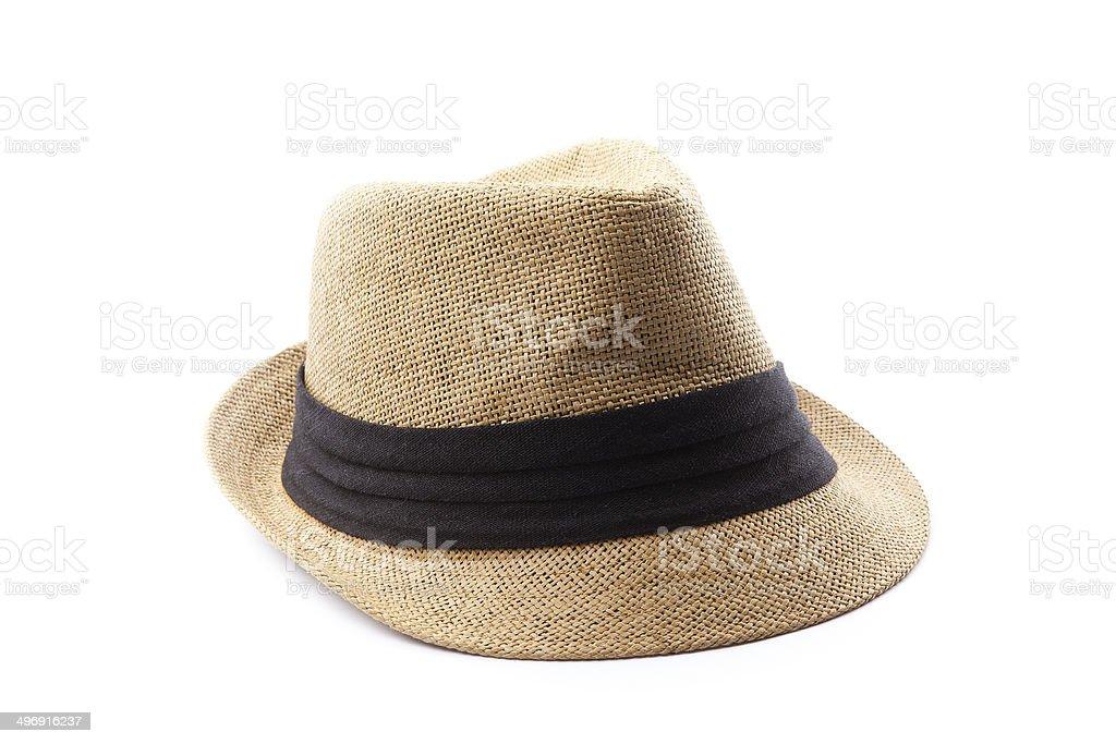 Straw Tourist Hat stock photo
