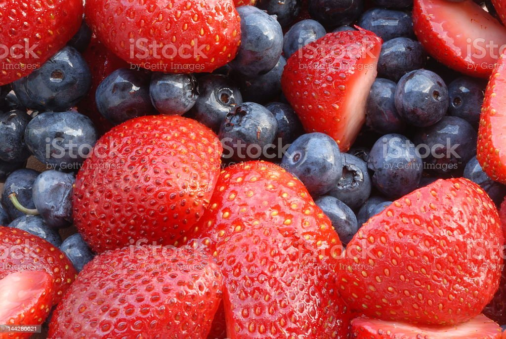 Strawberries and Blueberries I royalty-free stock photo