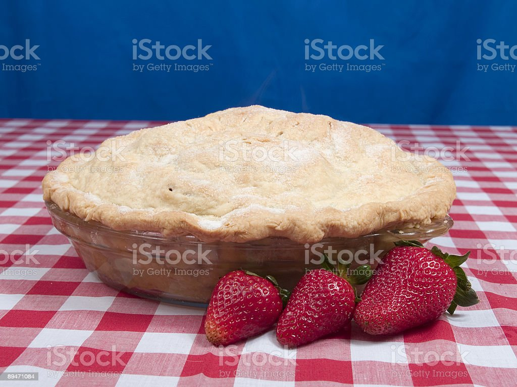 Strawberries and Pie royalty-free stock photo