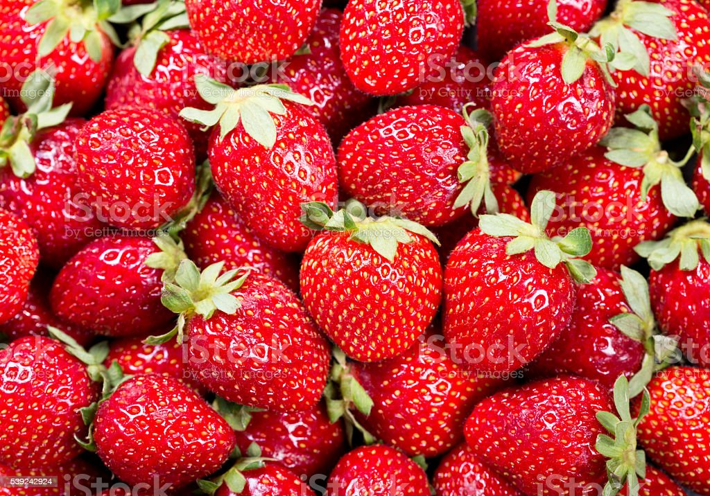 strawberries as background royalty-free stock photo