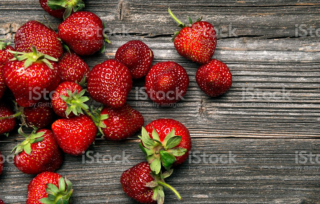 strawberries background stock photo