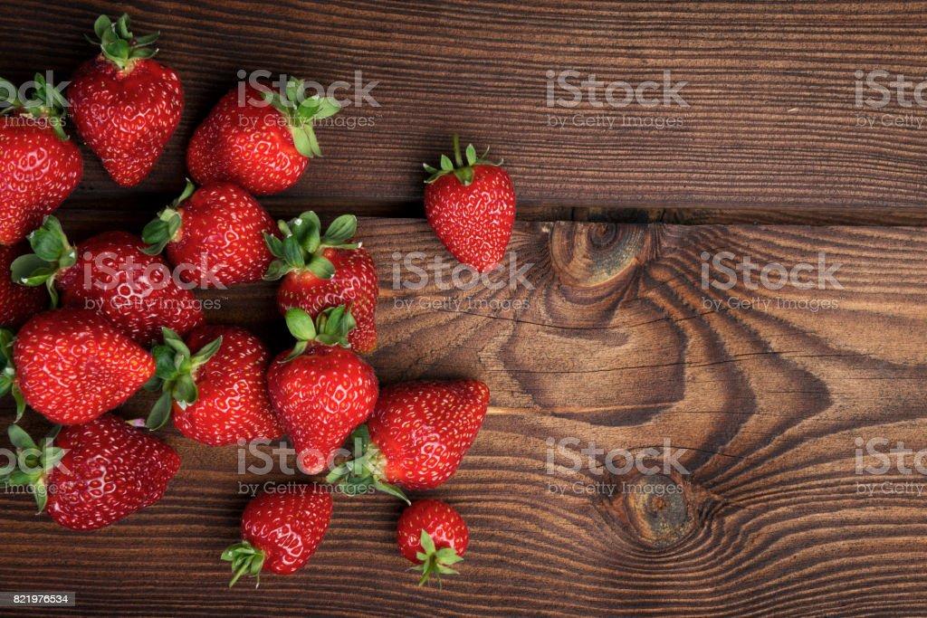 Aardbeien achtergrond foto
