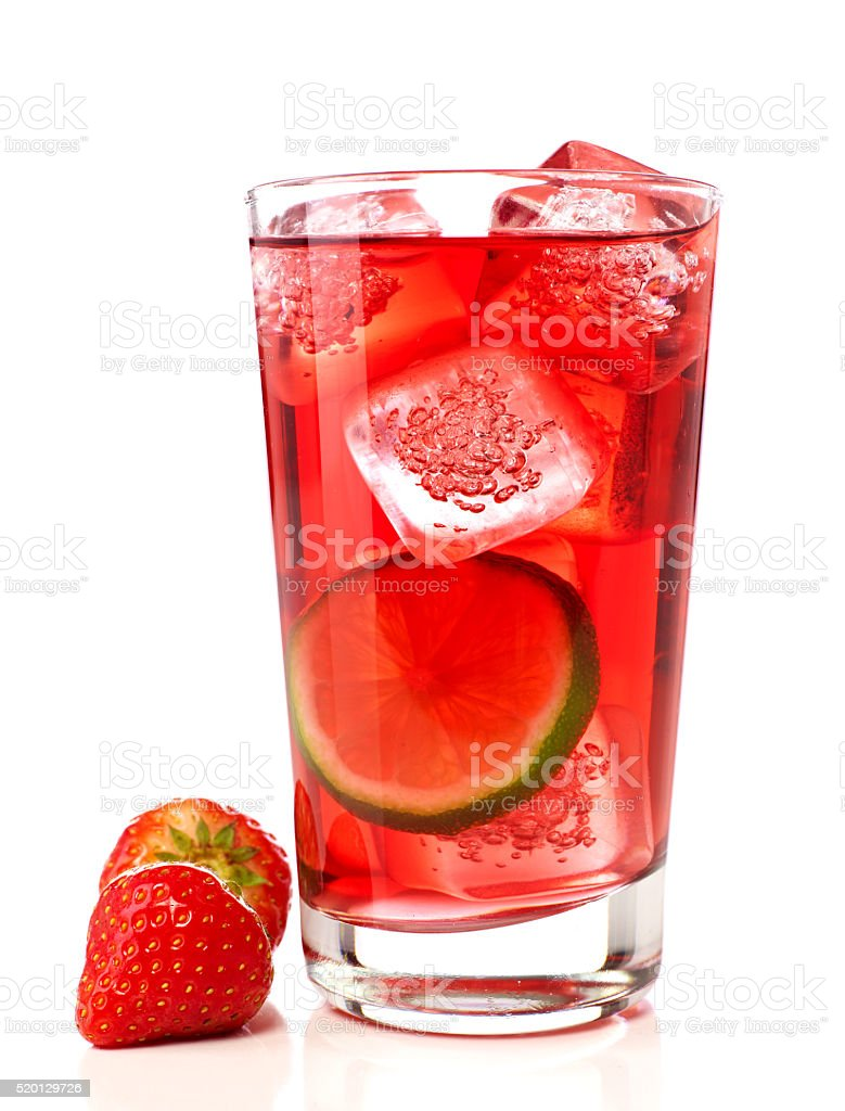 Strawberries cocktail stock photo