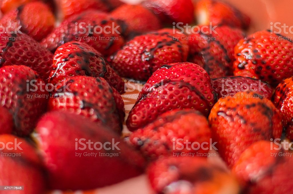 Strawberries dish stock photo