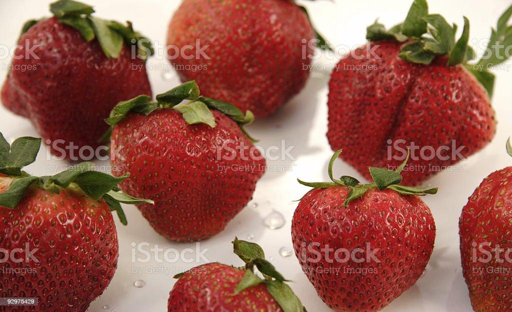 strawberries eight royalty-free stock photo