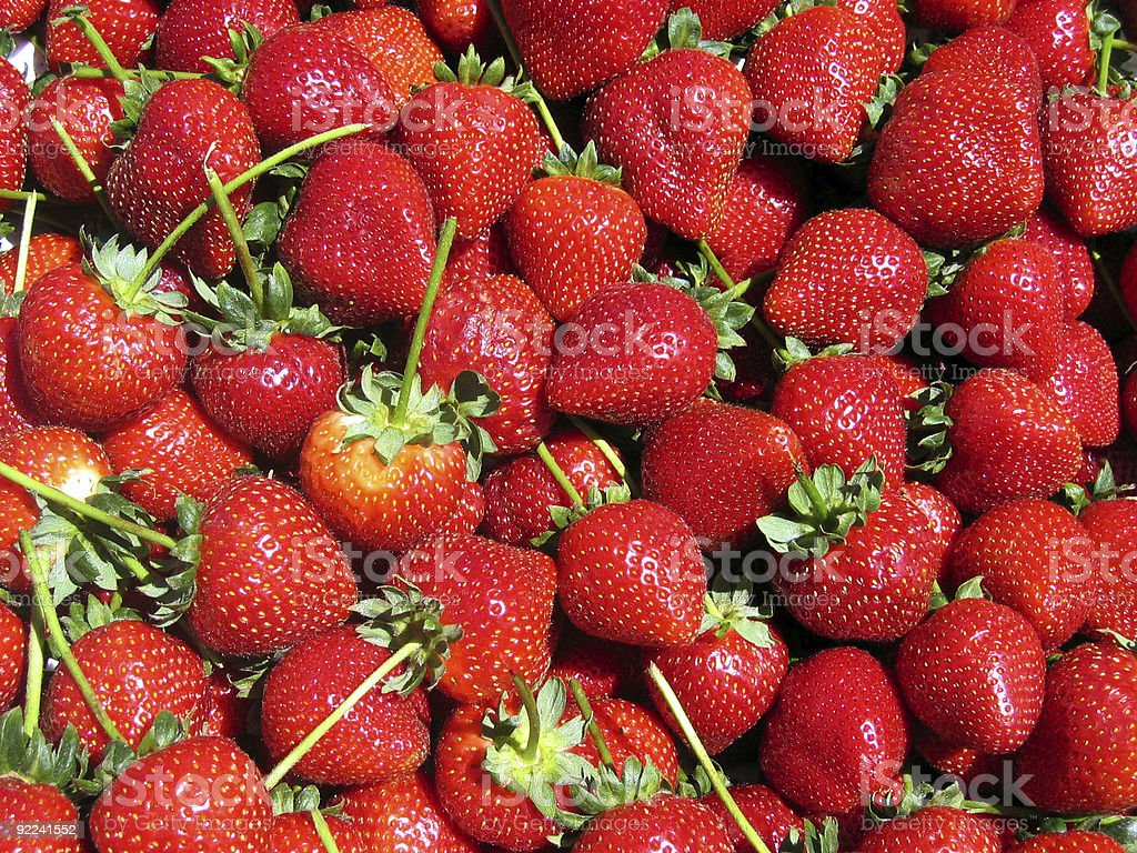 Strawberries for Sale at the Farmer's Market royalty-free stock photo
