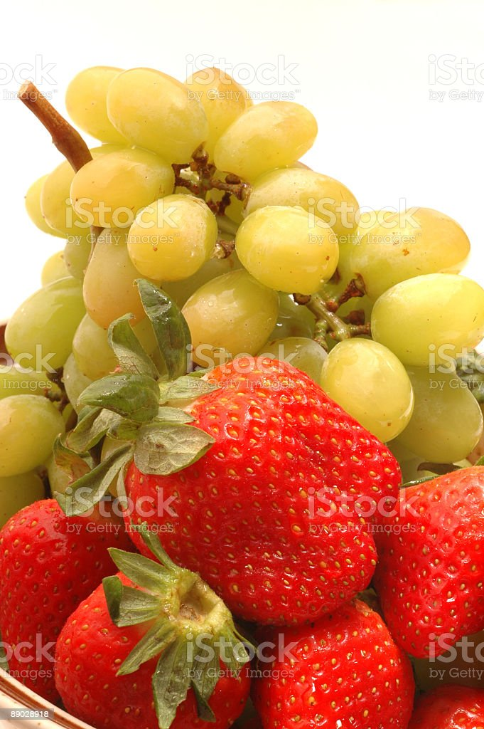 strawberries grapes royalty-free stock photo