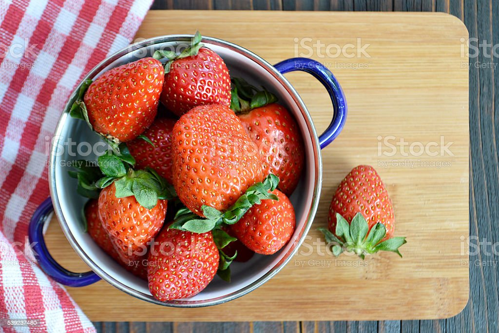 Strawberries in a bowl royalty-free stock photo
