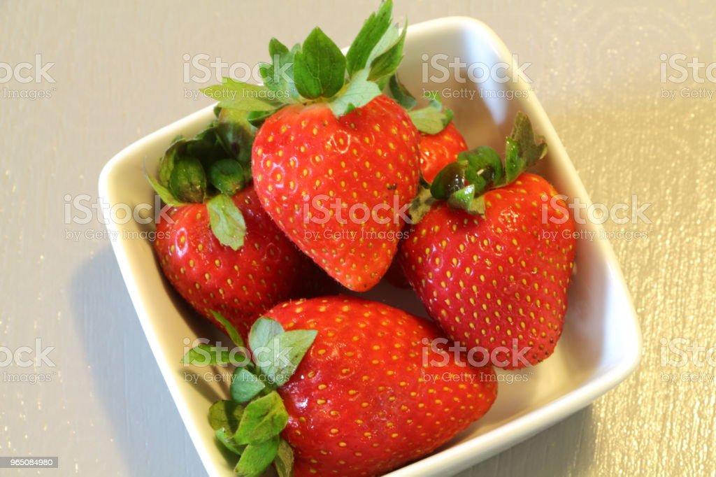 Strawberries in a ramekin royalty-free stock photo