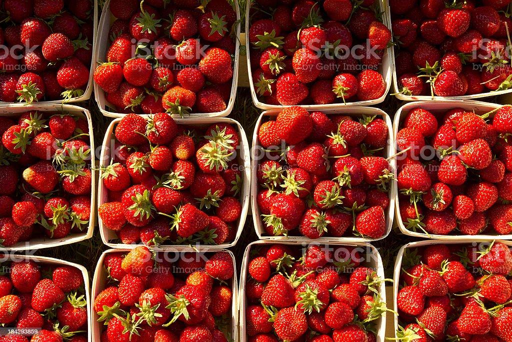 Erdbeeren in Körben – Foto