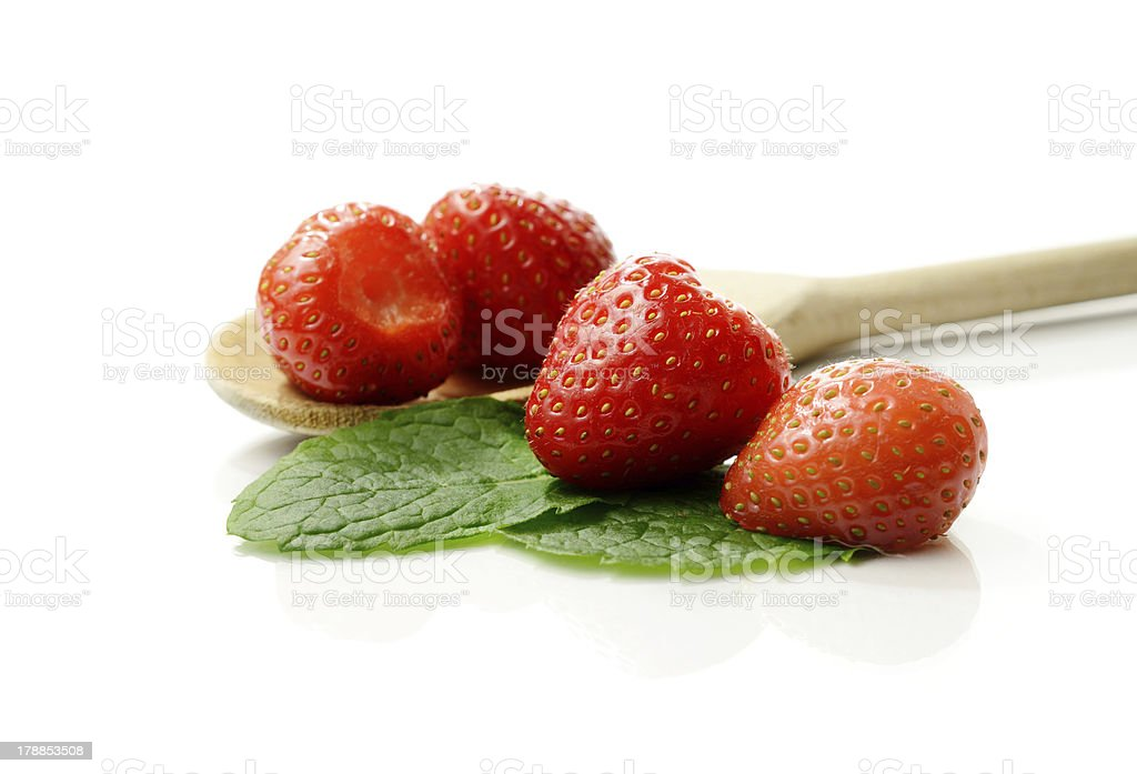 Strawberries Macro royalty-free stock photo