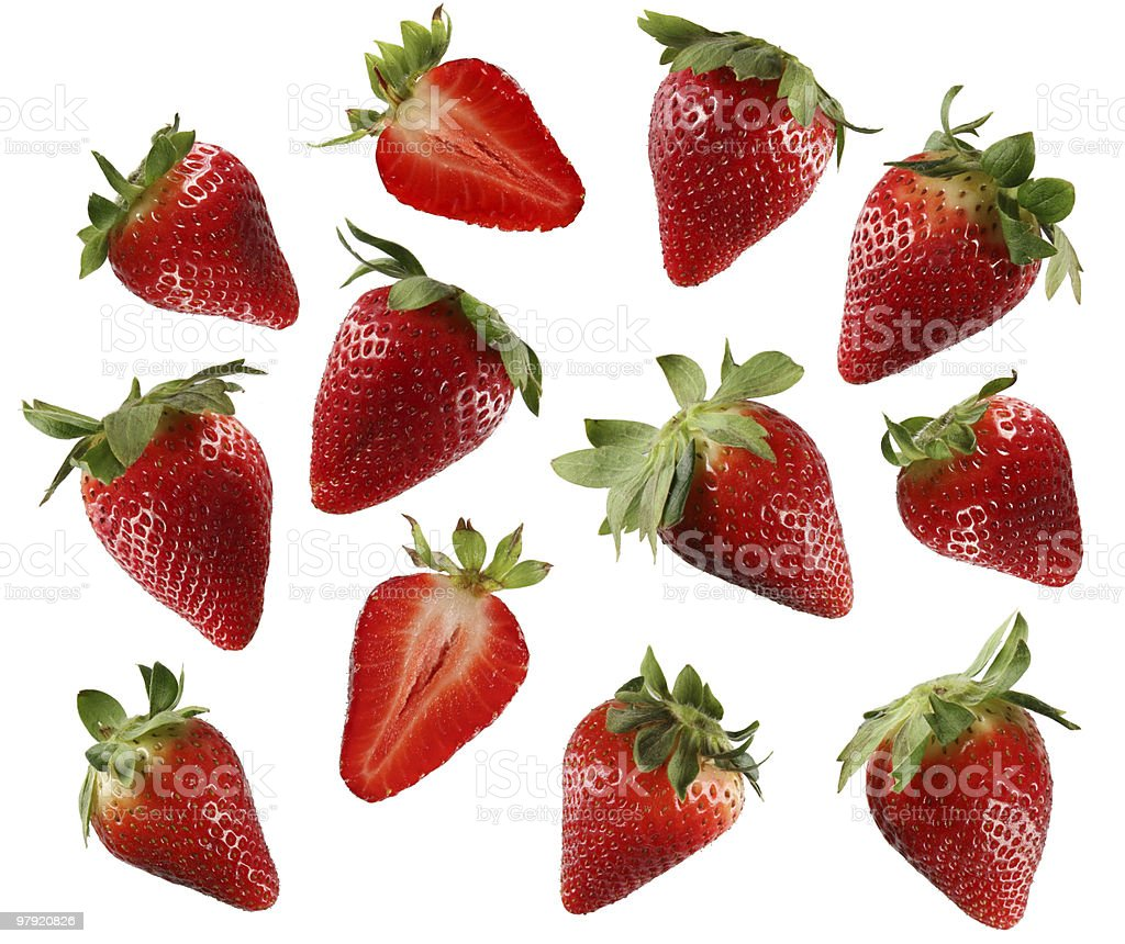 Strawberries mix royalty-free stock photo