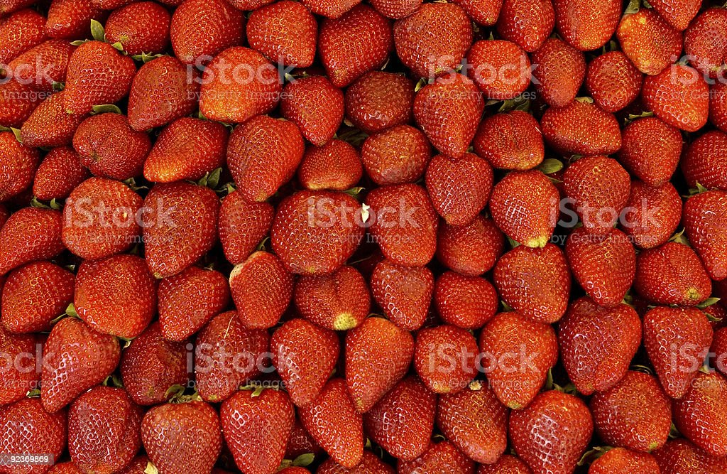 Strawberries on a market stall royalty-free stock photo