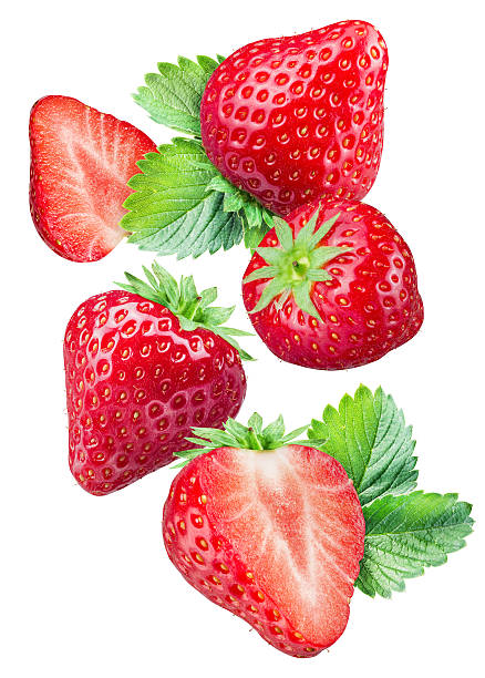 Strawberries on the white background. foto