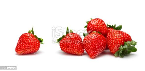 Fresh Strawberries on a white background