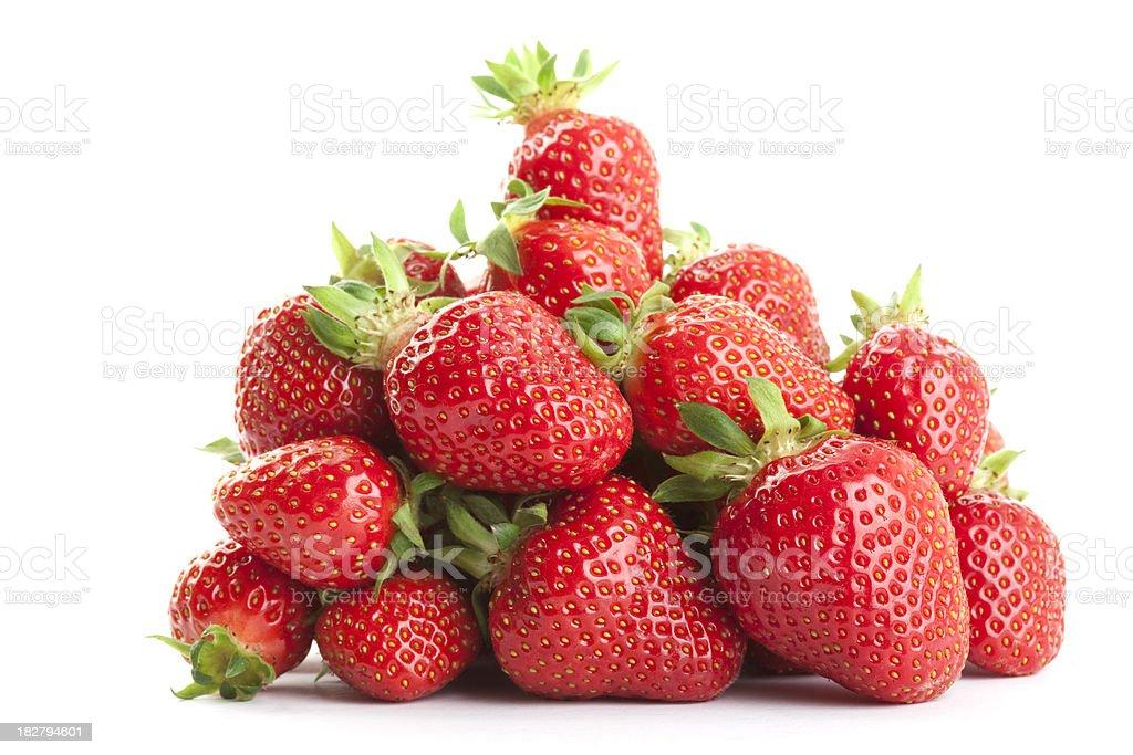 Strawberries on White royalty-free stock photo