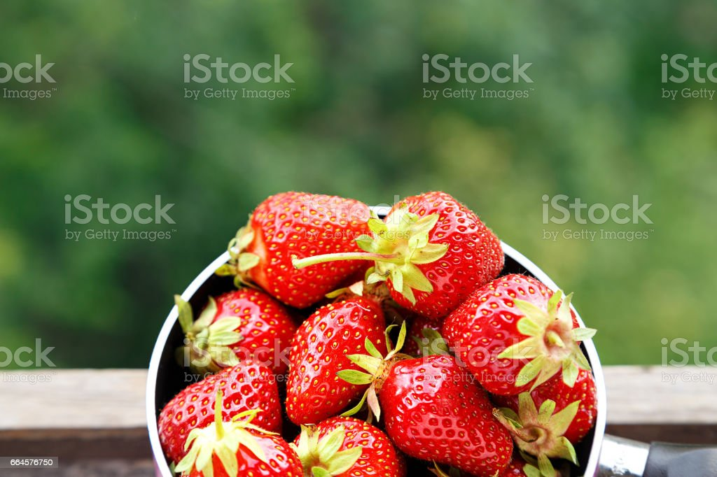 strawberries on wooden table royalty-free stock photo