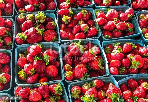Strawberries at the local farmer's market