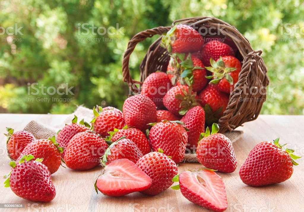 Strawberries - Royalty-free Ahşap Stok görsel