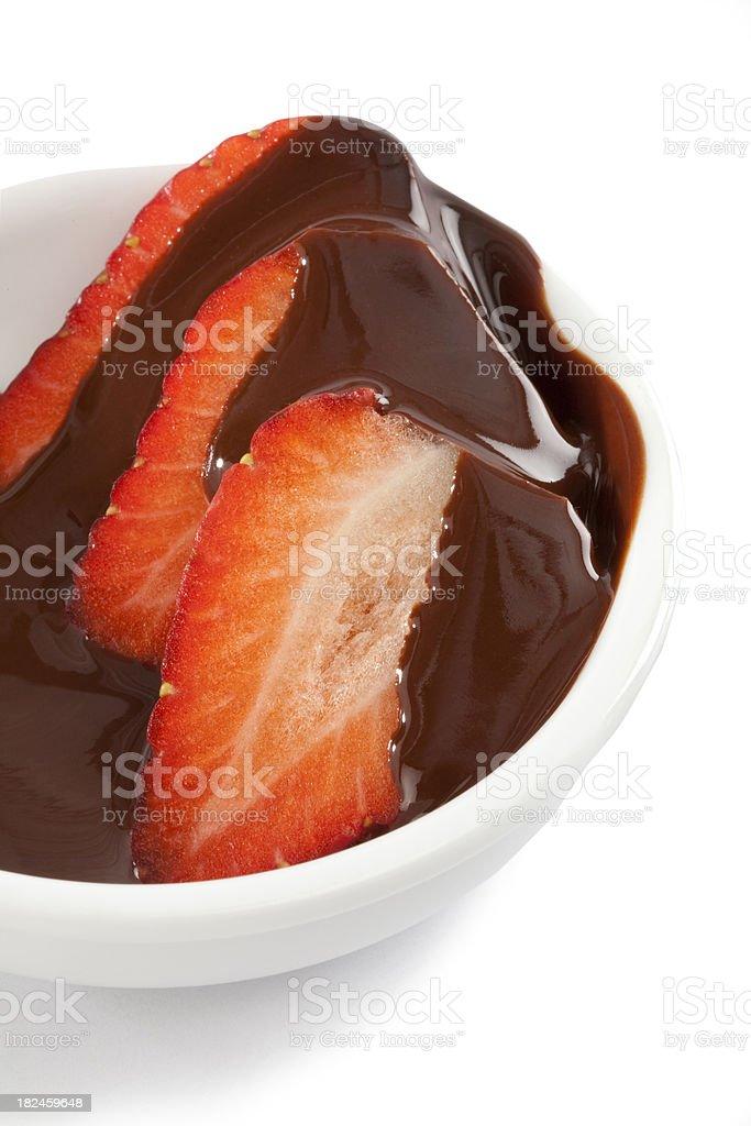 FRESAS CON chocolate foto de stock libre de derechos