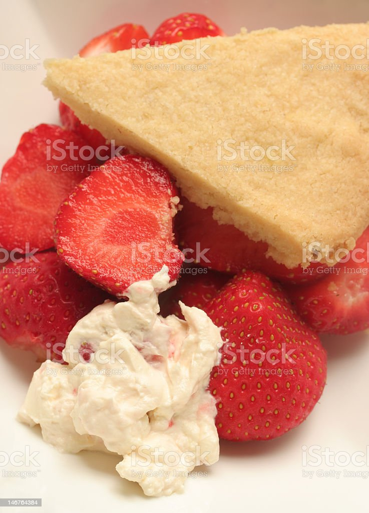 strawberries with shortbread royalty-free stock photo