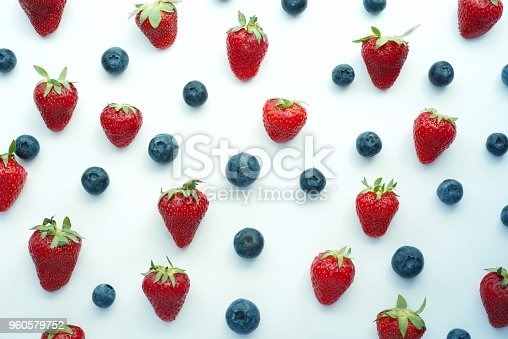 942159066 istock photo strawberry and blueberry patter backgriund, heakthy vegan snack, diet organic food, detox, flatlay 960579752