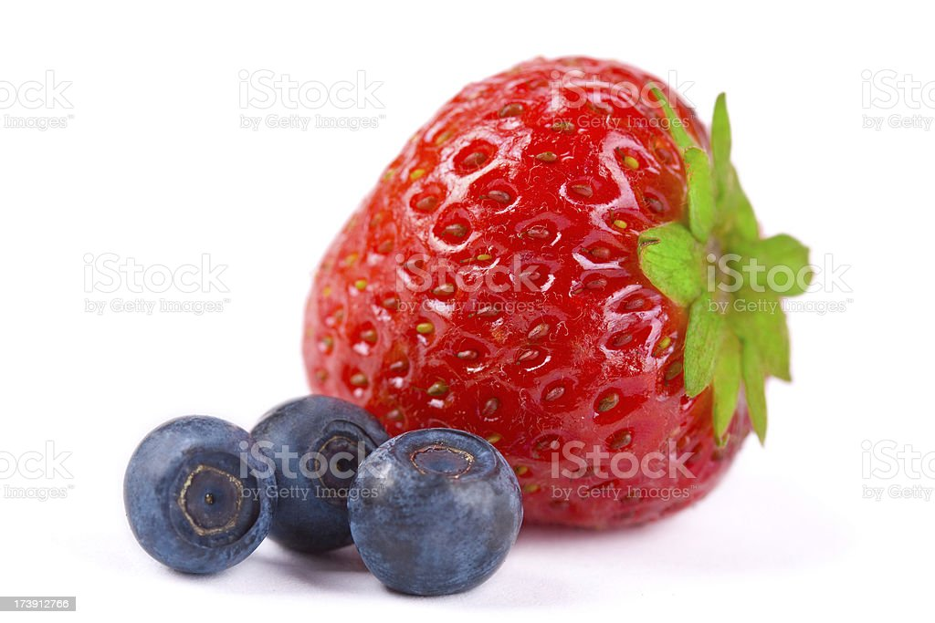 Strawberry and blueberry. royalty-free stock photo