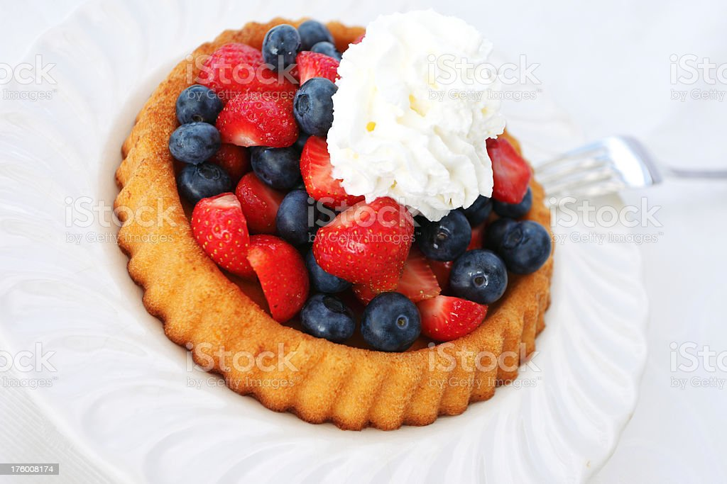 Strawberry and Blueberry Pie royalty-free stock photo