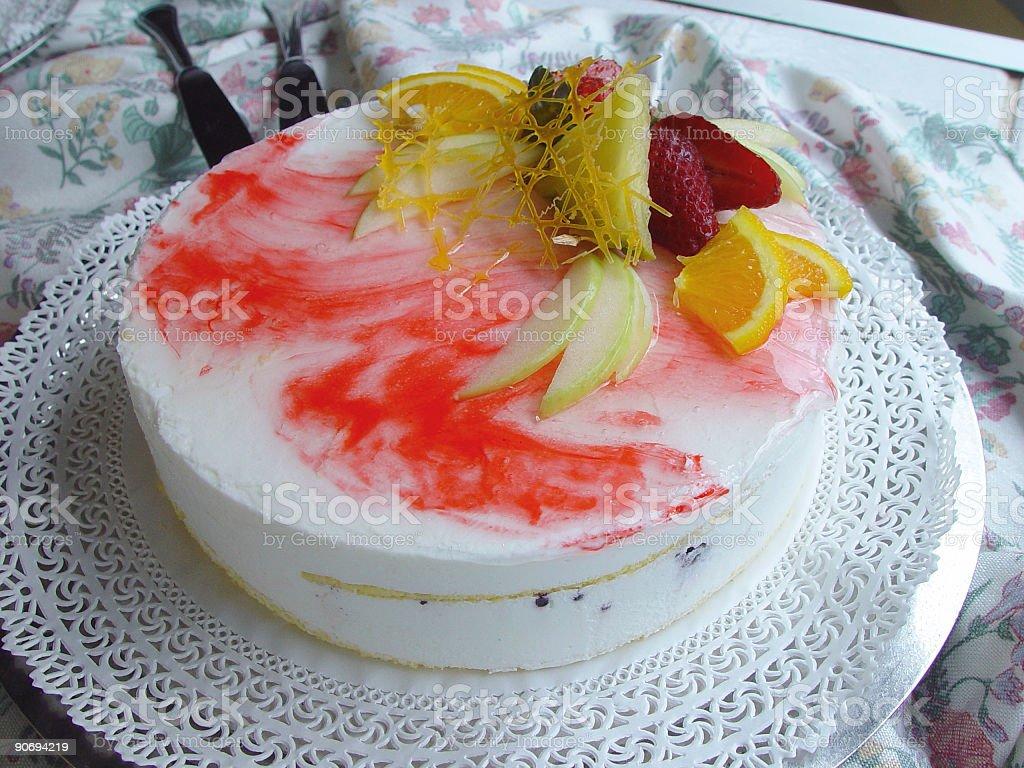 Strawberry and cream cake royalty-free stock photo