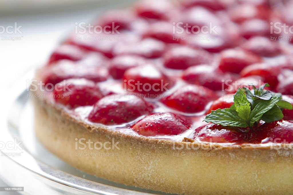 Strawberry and french cream pie royalty-free stock photo