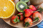 strawberry and fruit group of vitamin for health , tasty fruit