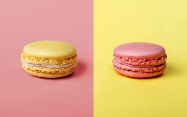 Fraise et saveur citron français Macarons - Photo