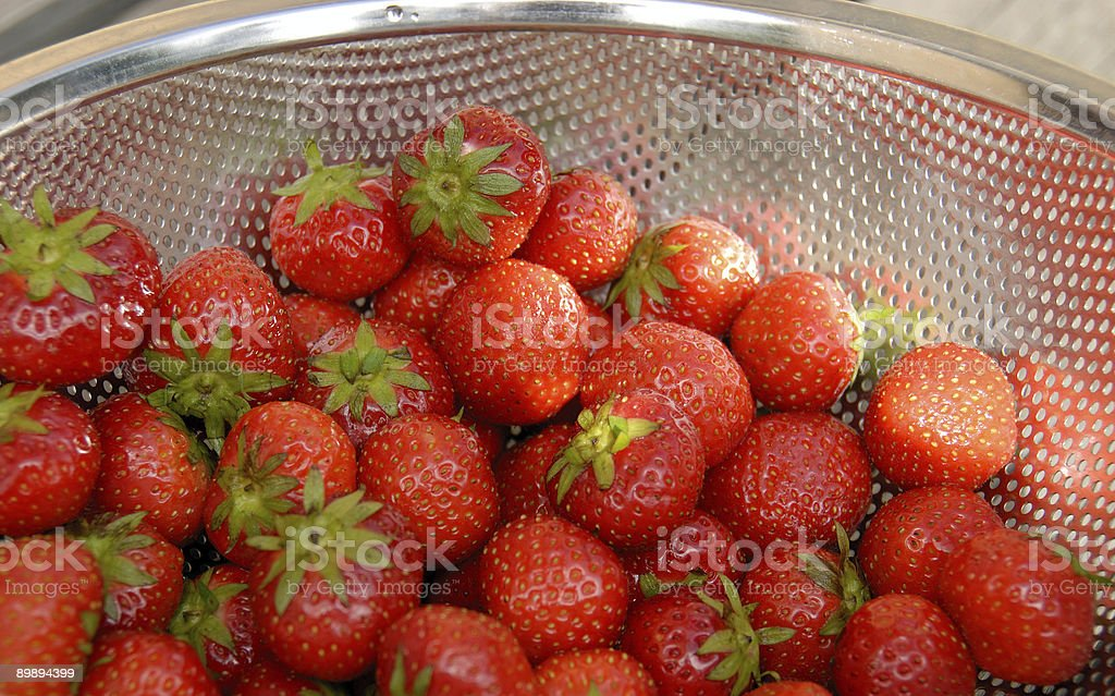 strawberry and metal royalty-free stock photo