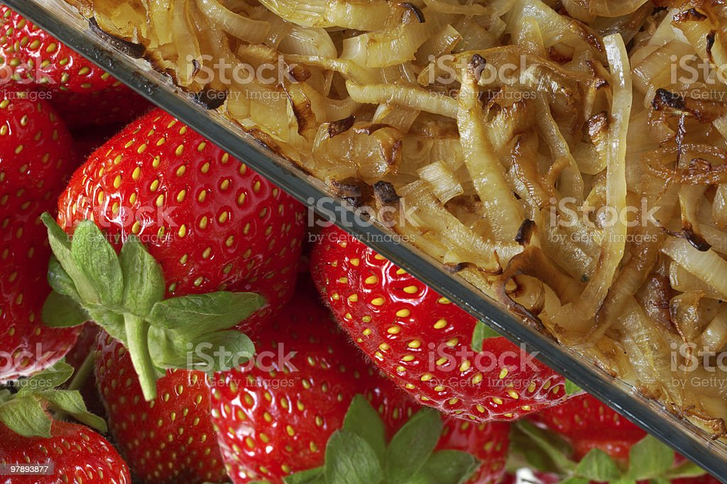 strawberry and onion royalty-free stock photo