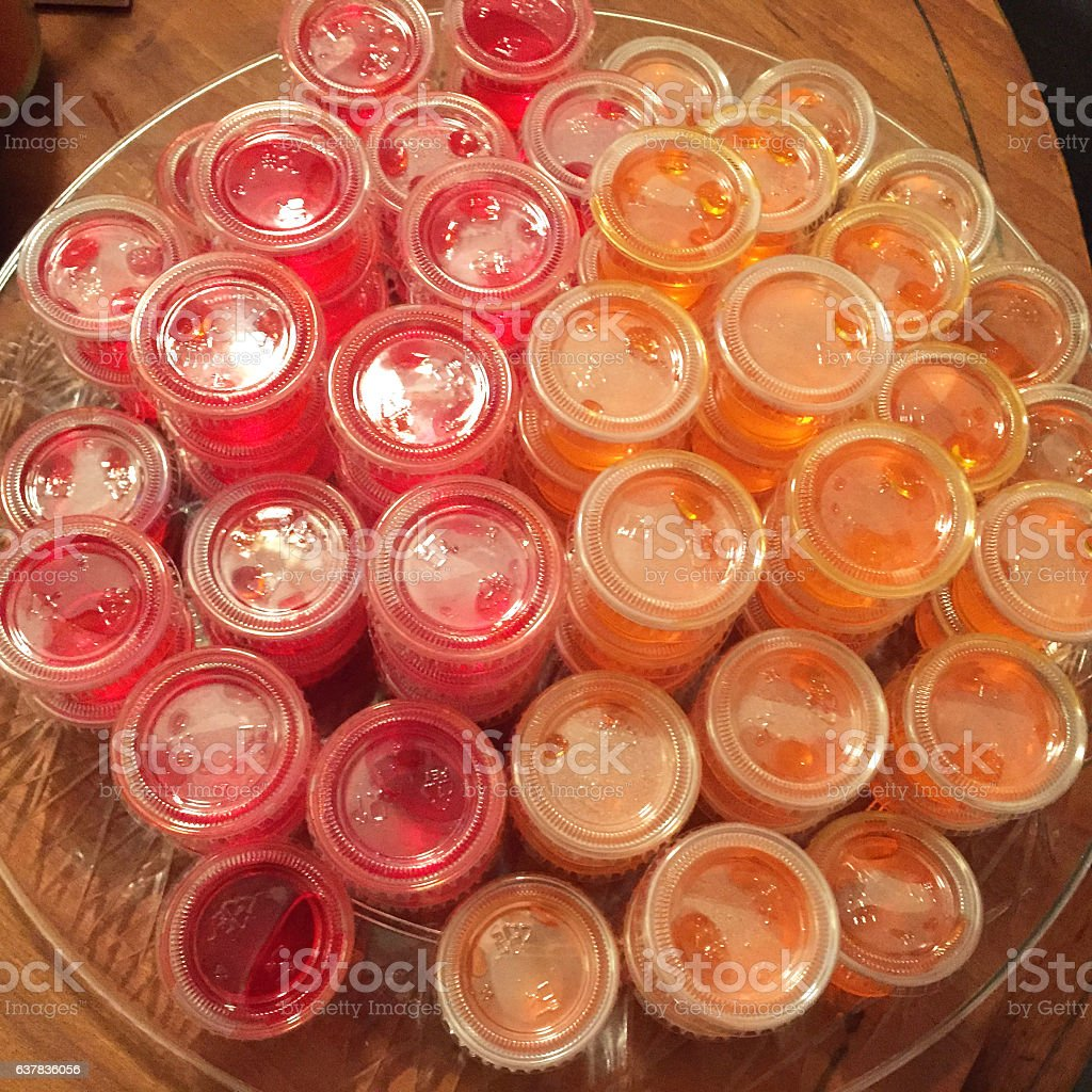 Strawberry And Orange Jello Shots Stock Photo More Pictures Of