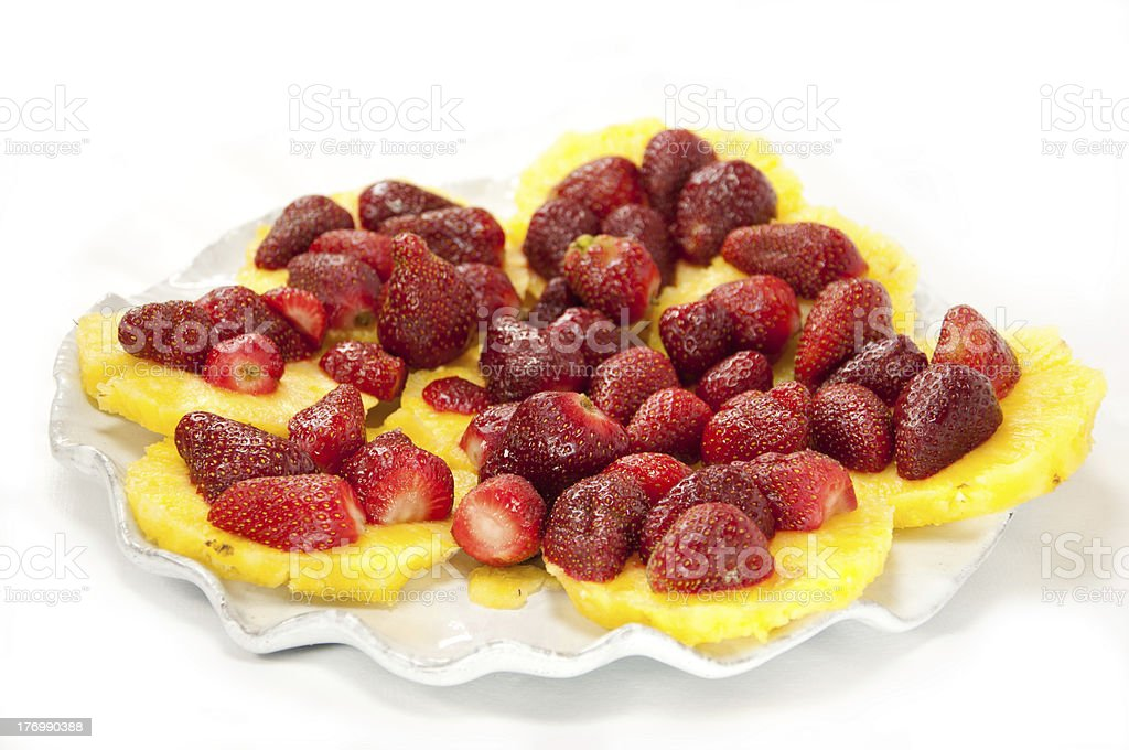 Strawberry and Pineapple royalty-free stock photo
