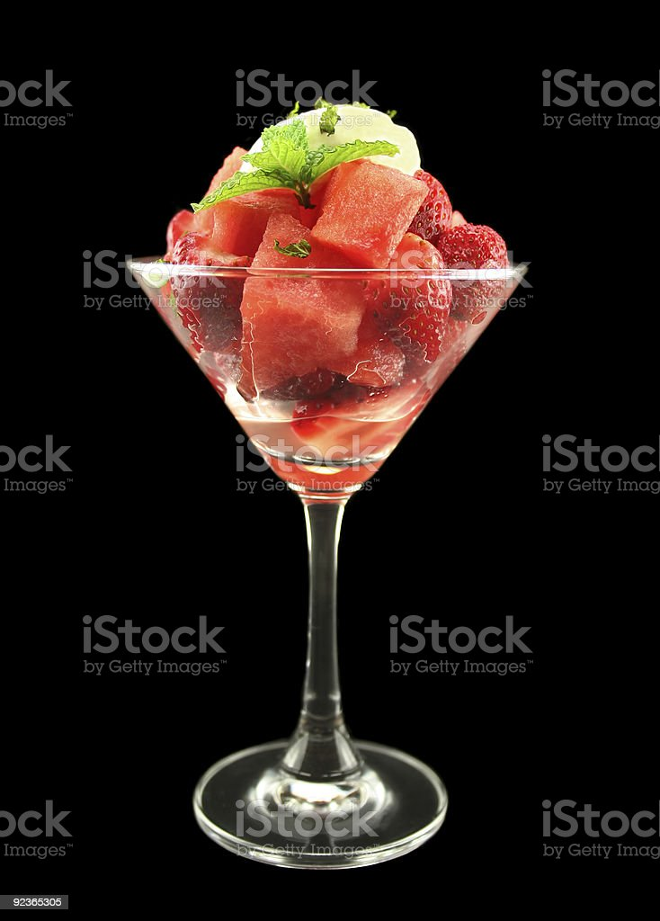 Strawberry And Watermelon royalty-free stock photo