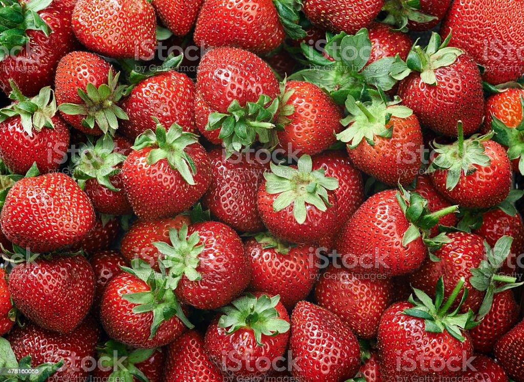 Erdbeer-Hintergrund – Foto