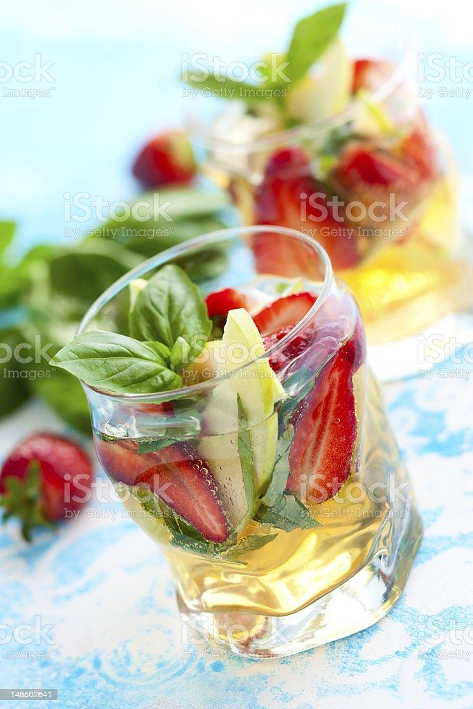 Strawberry Basil Sangria royalty-free stock photo