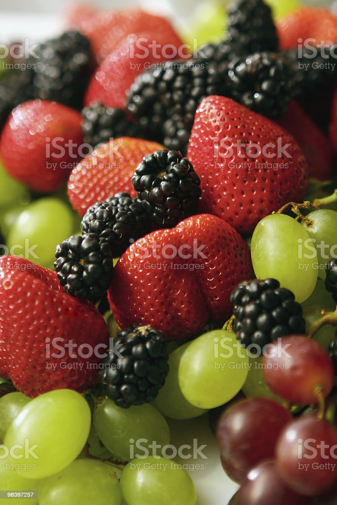 strawberry, blackberry and grapes royalty-free stock photo