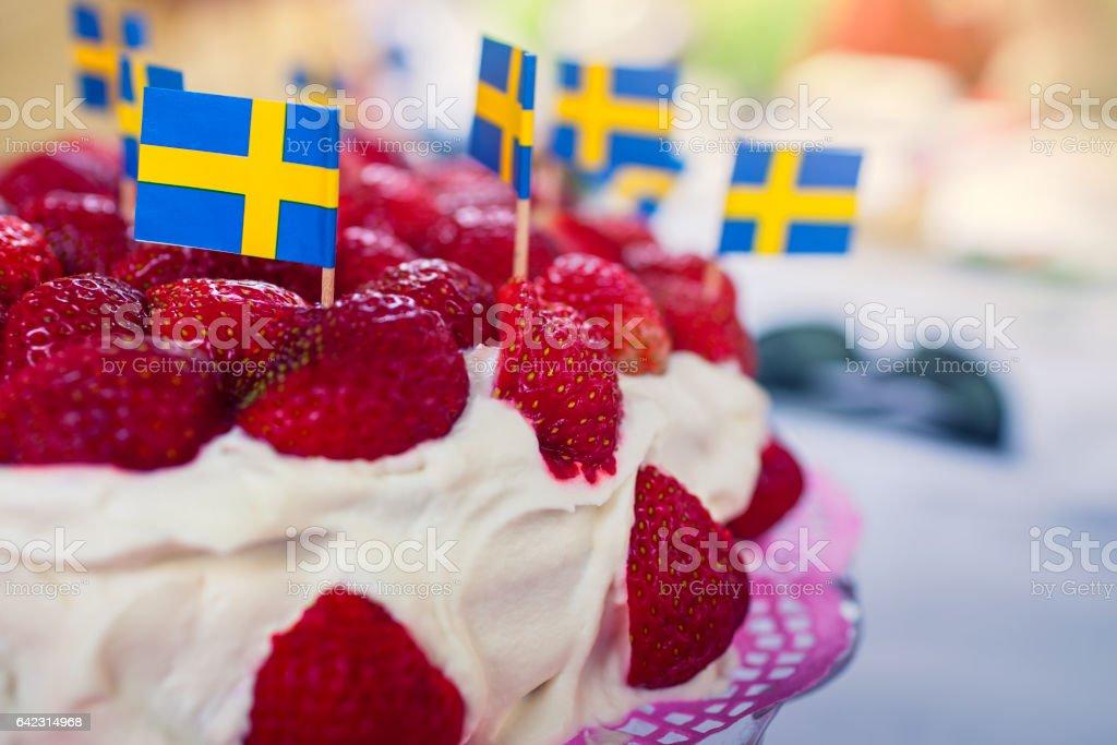 Strawberry cake stok fotoğrafı