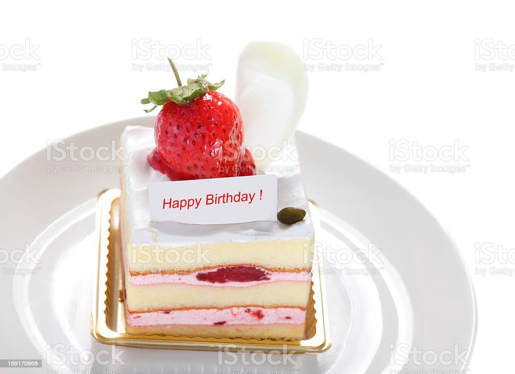 strawberry cake slice royalty-free stock photo