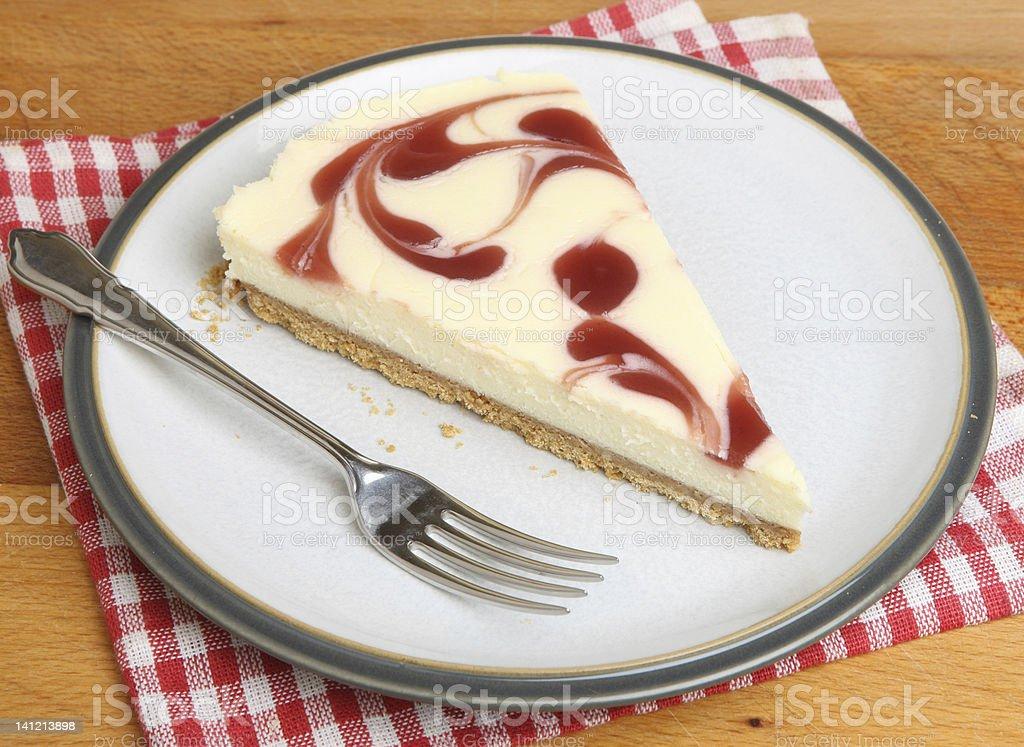 Strawberry Cheesecake Slice stock photo